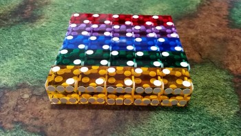 19mm Casino Dice x 5 (Various Colors)