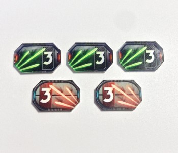 Star Wars Compatible 3-Damage Tokens