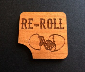 Blood Bowl Compatible Re-Roll Token