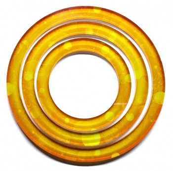 Limited Edition Gold - Full Art Acrylic Area of Effect Rings Set
