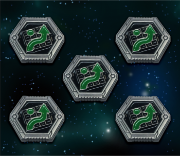 X-Wing Compatible Metal Navy Evade Tokens (5-pack)