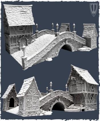 Tabletop World Stone Bridge