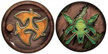 Privateer Press Licensed Hordes - Trollbloods Mercenaries and Minions Tokens Upgrade Set