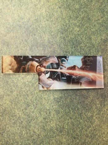 Privateer Press Licensed Crucible Guard Extended Measuring Template